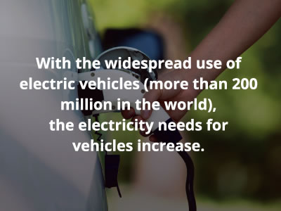 With the widespread use of electric vehicles (more than 200million in the world), the electricity needs for vehicles increase.
